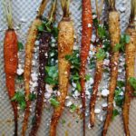 roasted carrots with spices and goat cheese dinner side recipe