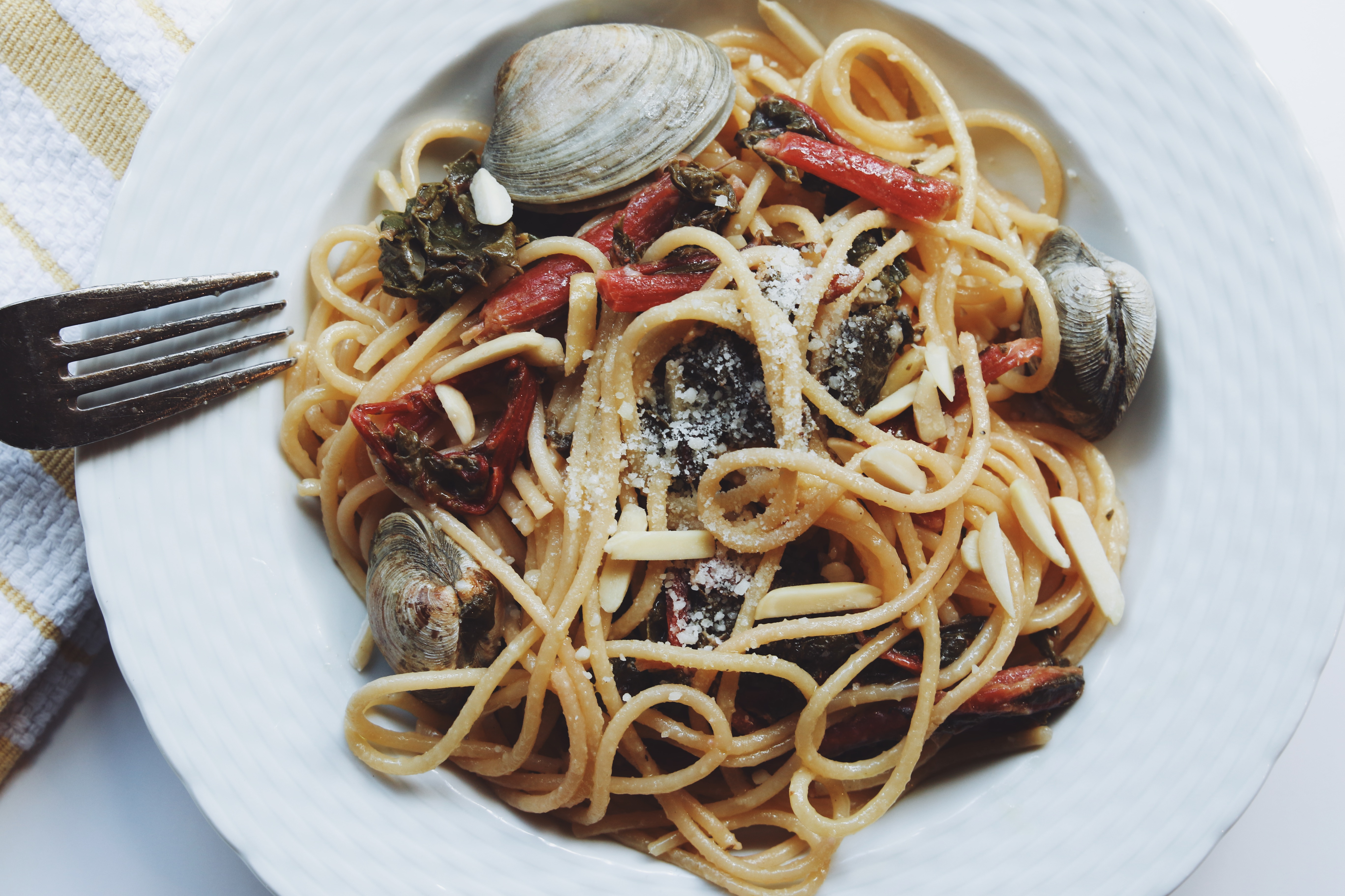 linguine and clams with swiss chard pasta recipe